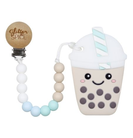 Bubble Tea - Teether with Clip
