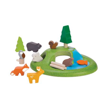 Animal Set - 15pc Colorful Wooden Toys
