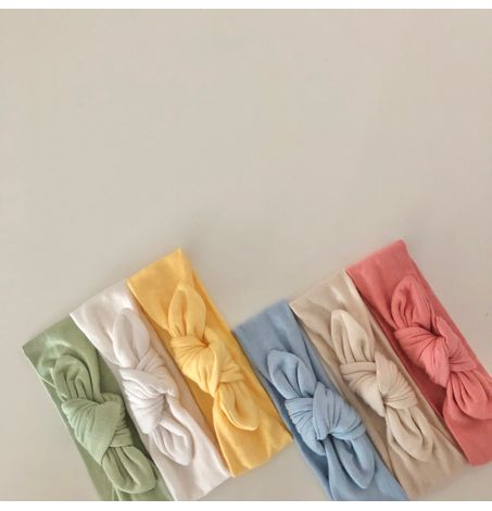 Tie Front Bow Headband, Soft & Stretchy, Baby Toddler Girls Hair Accessories