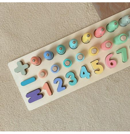 Montessori Numbers and Fishing Learning Puzzle