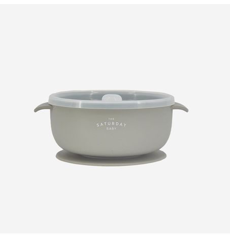 Silicone, Suction Bowl with Lid, BPA Free