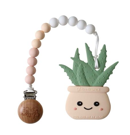 Aloe Planter - Teether with Clip