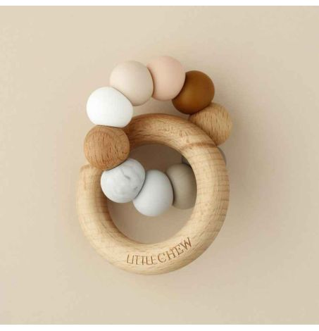 Silicone + Wood Ring Toy – Carlo
