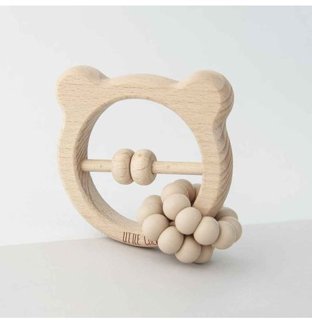 Silicone & Wood Bear Toy – Lukas