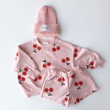Cherry Sweatshirt and Short Set