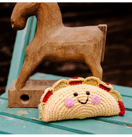 Taco Rattle - Hand Crocheted