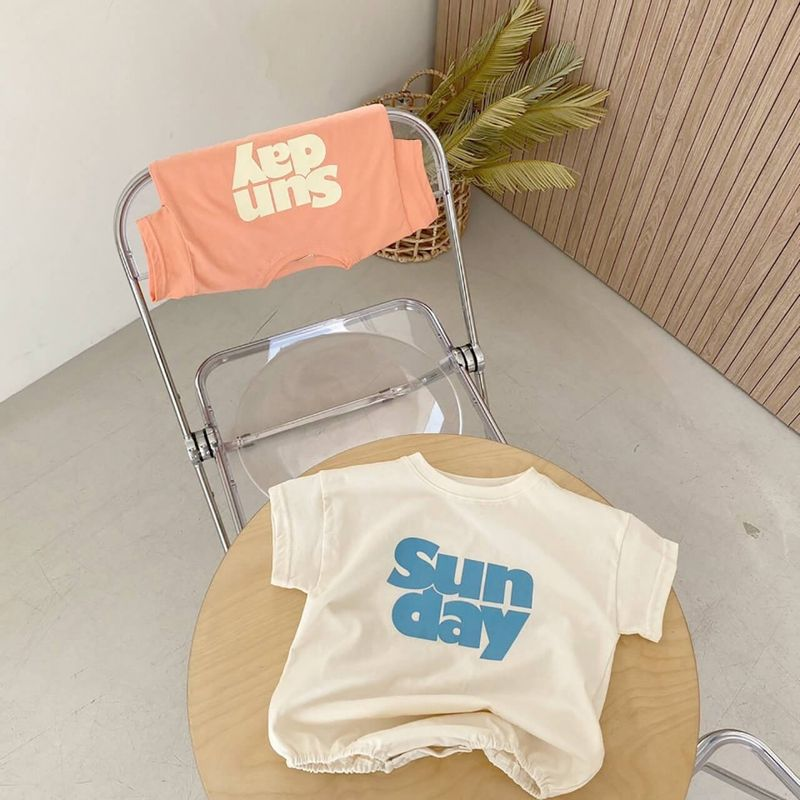 White-and-Coral-Sunday-Onesie-Flat-Lay-