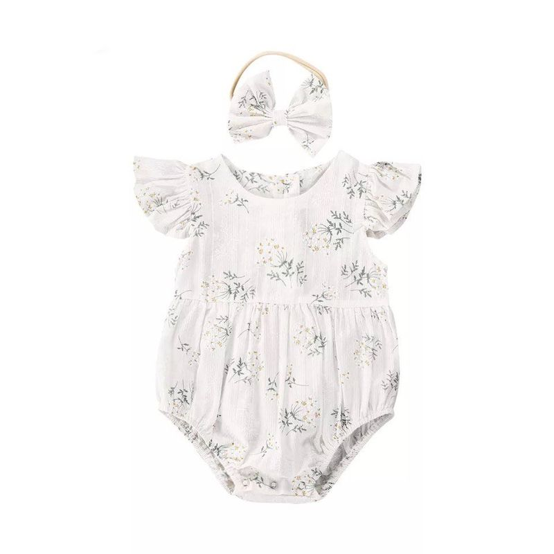 Floral-ruffle-onesie-with-matching-headband