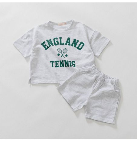 Kids England Tennis Athletic Top and Short Set