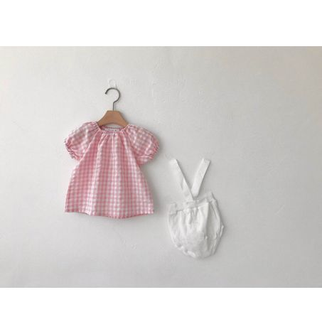 Baby Gingham Puff Sleeve Top