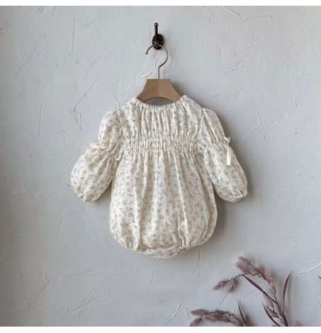 Baby Floral Front Smocked Onesie